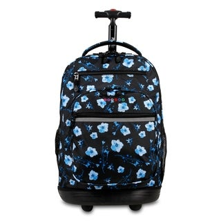 J World New York Sundance Night Bloom Rolling 15-inch Laptop Backpack