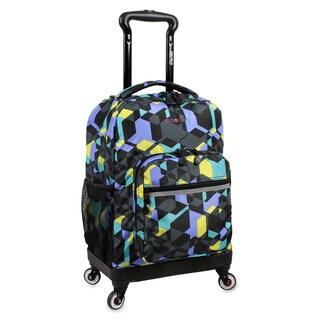 J World New York Sunslider Cubes 15-inch Laptop Spinner Backpack