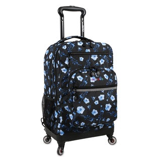 J World New York Moonslider Night Bloom 15-inch Laptop Spinner Backpack