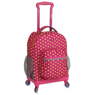 J World New York Sunslider Pink Buttons 15-inch Laptop Spinner Backpack