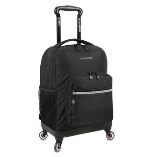 J World New York Sunslider Black 15-inch Laptop Spinner Backpack