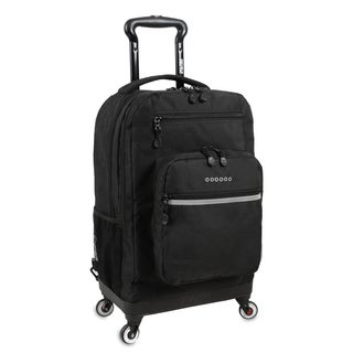 J World New York Moonslider Black 15-inch Laptop Spinner Backpack