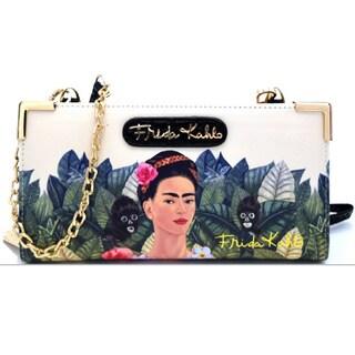 Frida Kahlo Zipper Wallet With Crossbody Strap