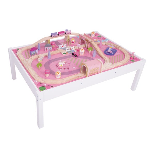Shop Bigjigs Wooden Magical Train Set And Table Free