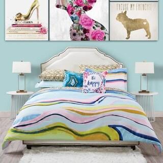 Oliver Gal Marble Flow 3-Piece Comforter Set