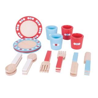 Bigjigs Toys Wooden Dinner Service