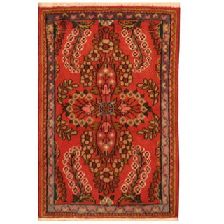Herat Oriental Persian Hand-knotted Hamadan Wool Rug (1'9 x 2'8)