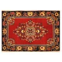 Handmade Herat Oriental Persian Kashan Wool Rug (Iran) - 2'4 x 3'3