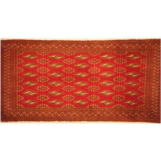 Handmade Turkoman Wool Rug (Iran) - 2'1 x 4'4