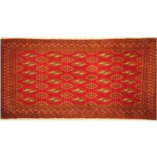 Handmade Herat Oriental Persian Turkoman Wool Rug (Iran) - 2'1 x 4'4