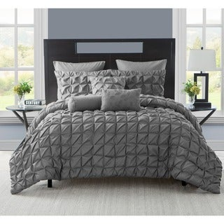 VCNY Maya 8-piece King Size Comforter Set in Charcoal(As Is Item)