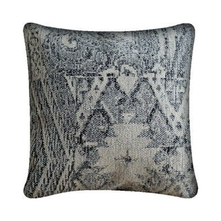 Mercana Culcita Black Fabric 18-inch Throw Pillow