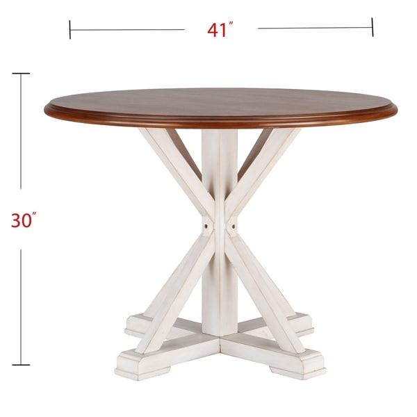 The Gray Barn Oriaga Round Pedestal Dining Table - Antique White