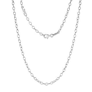 Kipling Children Sterling Silver Cable Chain Necklace - 39 Cm (15 1/3 Inch)