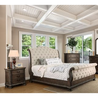 bedroom suite furniture. Furniture of America Brigette III Traditional 2 piece Ornate Rustic Sleigh  Bed with Nightstand Set Bedroom Sets For Less Overstock com