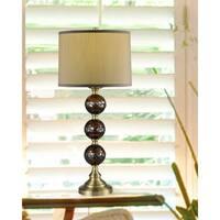 "Springdale 32""H Dunford Mosaic 3-Ball Hand Blown Art Glass Table Lamp"