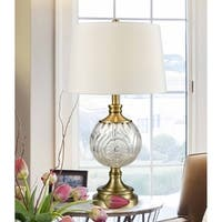 "Springdale 25.5""H Mitre Crystal Table Lamp"