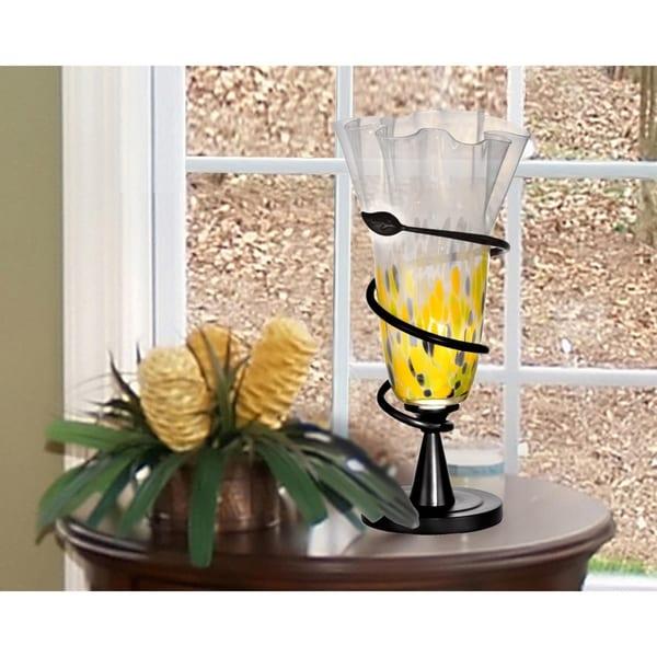 "Springdale 20""H Spiral Leaf LED Hand Blown Art Glass Table Lamp"