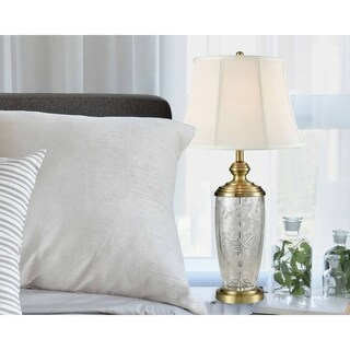 "Springdale 29.75""H Desmart Crystal Table Lamp"