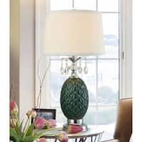 "Springdale 29""H Maxie LED Crystal and Ceramic Table Lamp"