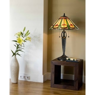 """Dale Tiffany Select 24""""H Quill Table Lamp"""