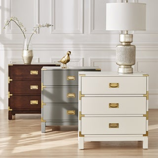 Link to Kedric 3-drawer Goldtone Accent Nightstand by iNSPIRE Q Bold Similar Items in Living Room Furniture