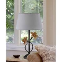 """Springdale 24.25""""H Dual Rose Hand Blown Art Glass Table Lamp"""