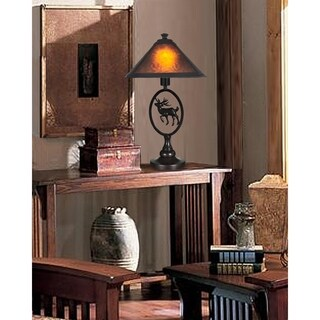 Dale Tiffany 24.5-inch High Moose Mica Table Lamp