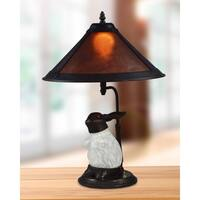 """Springdale 21""""H White Rabbit Mica Table Lamp with Night Light"""