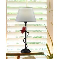"Springdale 26.5""H Rose Gold Hand Blown Art Glass Table Lamp"