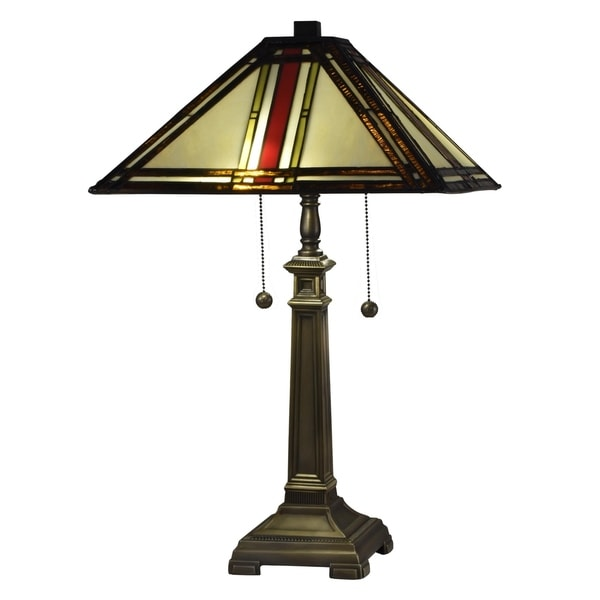 "Dale Tiffany Select 23""H Owen Mission Table Lamp"