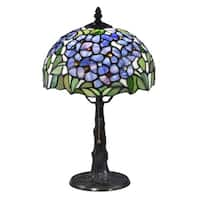 "Springdale 16""H Blue Garden Solid Bronze Table Lamp"