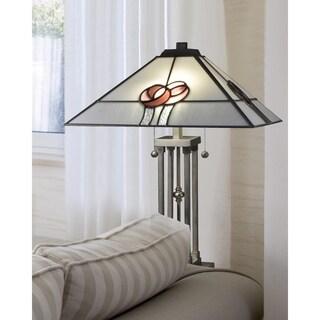 """Springdale 24.5""""H Mack Rose Tiffany Table Lamp"""