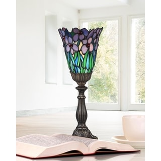 """Dale Tiffany Select 15.5""""H Meadowbrook Uplight Accent Lamp"""
