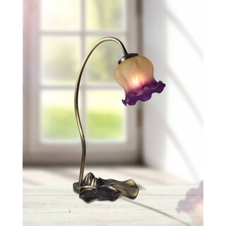 "Springdale 15.5""H Princess Tulip Hand Blown Art Glass Accent Lamp"