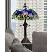 "Dale Tiffany Select 25""H Tara Peony Table Lamp"