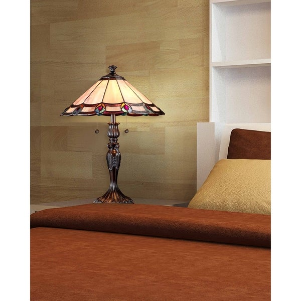 "Springdale 22""H Aldridge Peacock Table Lamp"