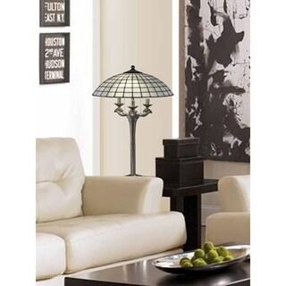 "Springdale 30.5""H White Dome Tiffany Table Lamp"