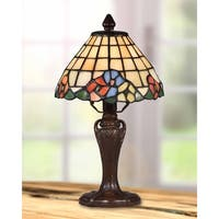 """Dale Tiffany Select 13""""H Basking Floral Accent Lamp"""