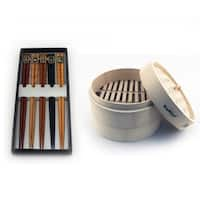 Bamboo 11pc Steamer Set with Steamer & Chopsticks