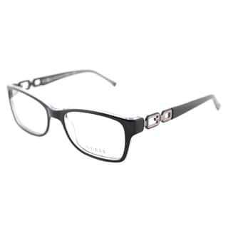 Guess Cat-Eye GU 2406 B84 Women's Black on Crystal Frame Eyeglasses
