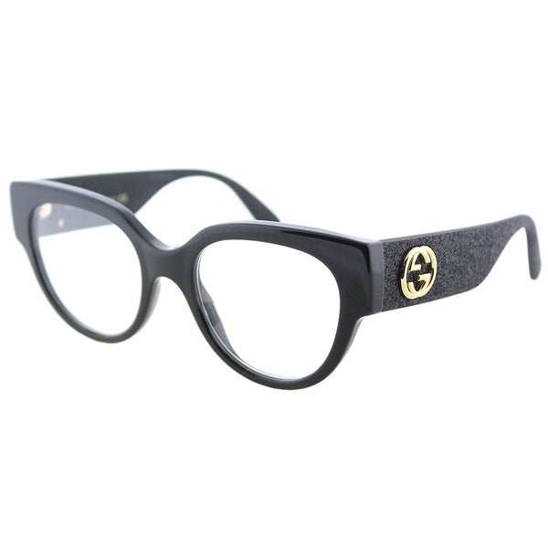 Shop Gucci Cat-Eye GG 0103O 001 Women\'s Shiny Black Frame Eyeglasses ...
