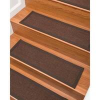 """Grayton Wool/Sisal Carpet Stair Treads  - Set of 13 - 9""""x 29"""""""