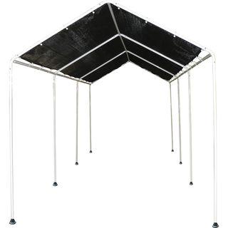 ShelterLogic Black Polyethylene Mesh 8-foot x 20-foot Shade Canopy with 8-leg Frame