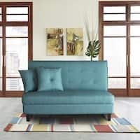 Ocean Bridge  Furniture Collection  Daniel Loveseat, Black/Teal/Burgundy/Grey