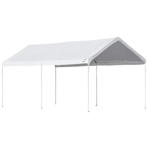 ShelterLogic Accelaframe White 5-ounce Fabric 10' x 20' Canopy with 1-3/8-inch Frame