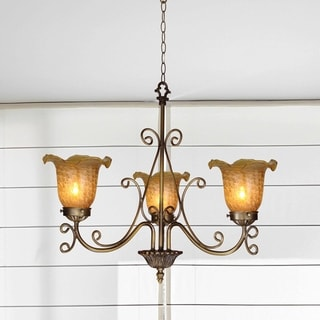 "Springdale 18.5""W Luster Gold 3-Light Chandelier"