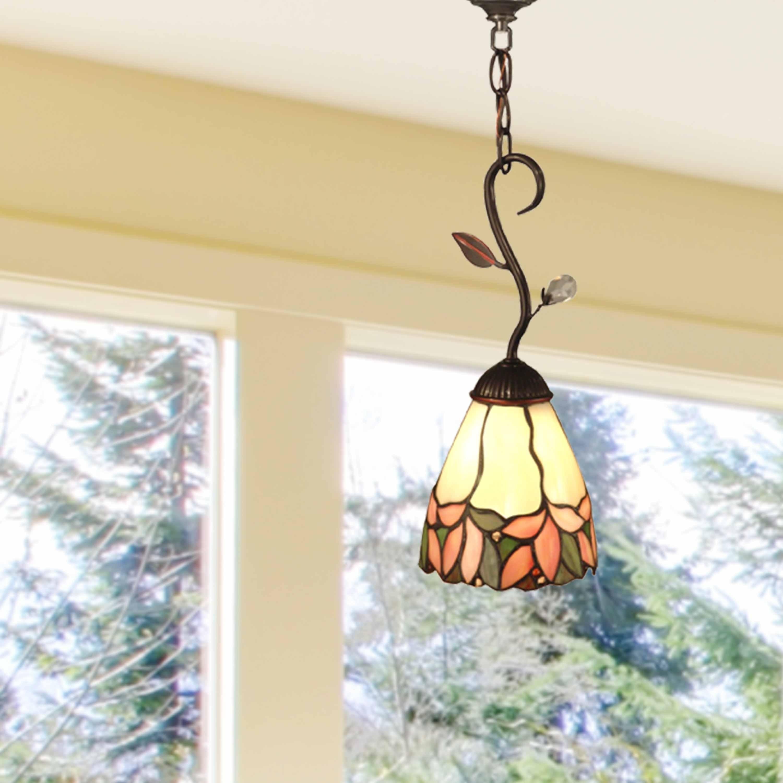 Details About Springdale 6 W Crystal Leaf Art Gl Mini Pendant