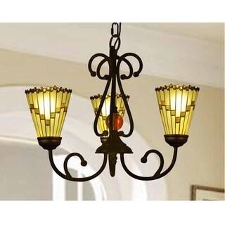 "Springdale 18""W Jerome LED 3-Light Tiffany Hanging Fixture"