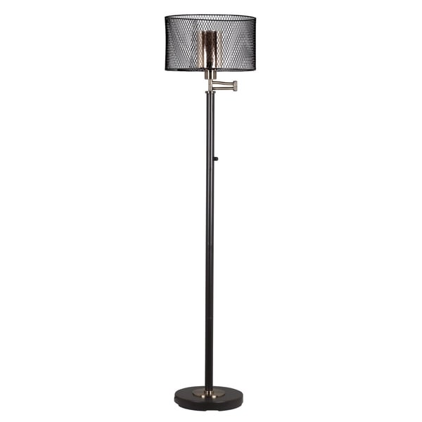 Springdale 61h hardy led swing arm hand blown art glass floor lamp springdale 61h hardy led swing arm hand blown art glass floor lamp aloadofball Images